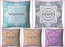 Indian flower mandala cotton square large floor pillow meditation cushion Cover