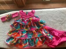 Gorgeous Amy Coe 3-6 Month dress with Matching headband.  So cute!!