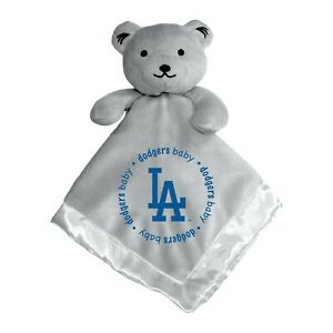 Los Angeles Dodgers Baby Security Bear Blanket, MLB Licensed 14X14 Gray