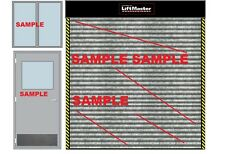 1/18 Diorama Garage Doors Graphic Decal For Shop ,Accessories Made By A608..
