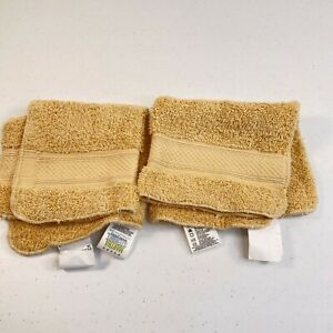 martha stewart washcloth towel pair brown egyptian loop cotton 13x13 beige
