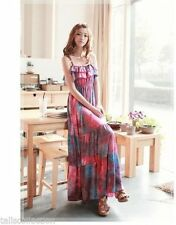 Unbranded Cotton Blend Solid Dresses for Women's Maxi Dresses