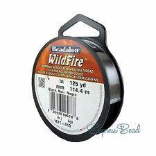 Beadalon WILDFIRE 125 yd/114.4 m Frost/Black Beading Thread Cord