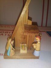Wooden Nativity Scene - 1 Piece Manger Rustic Scene Baby Jesus Christmas Piece