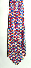 Men's New Neck Tie, Short, Classic, Red Blue floral design by Roundtree & Yorke