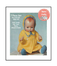 Clothes for a 20 inch Baby Doll - Knitting Pattern