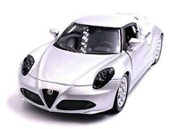 Alfa Romeo 4c Sports Car Model Car Car in Silver Scale 1:3 4 (Licensed)