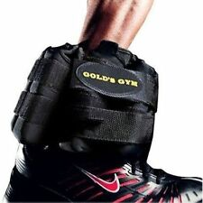 Gold's Gym 10 Pounds Pair Adjustable Ankle Weights working out 2 X 5 lbs