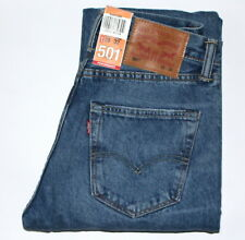 Levis 501 Mens Jeans Original Fit in Balboa Strong Mid Wash 30 Short