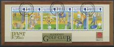 333363) GB Alderney Block 10 gestempelt Golf