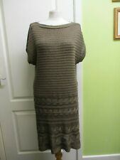 FITS A UK SIZE  14 WOMENS BROWN KNITTED JUMPER DRESS BY GEORGE