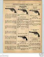 1936 PAPER AD Colt Military Police Model Revolvers US Army Square Butt S&W