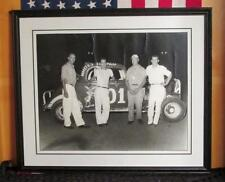 Vintage 1950s Auto Racing Track Photograph Whites Texaco Tommy Campbell 16x20 #2