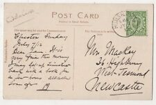 Humshaugh 1912 Single Ring Postmark on Postcard, B591