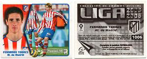 """RARE !! TORRES Cromo ROOKIE """"LIGA ESTE 2005-2006"""" Sticker, Vignette PANINI"""
