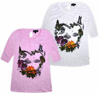 Ladies Plus Size Top Women Baggy Loose Blouse T shirt New UK 16 18 20 22 24 26