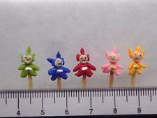 1:12 Hand Made Polymer Teletubbies ( 5) On A Stick Dolls House Miniature Nursery