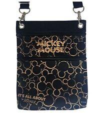 Disney Gold & Black Mickey Mouse Wallet Passport Holder Bag Purse