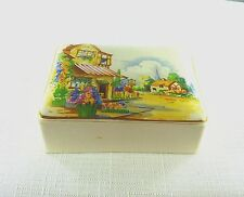 Vintage Empire England 654 Porcelain Trinket Jewel Box