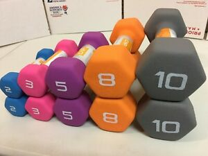 CAP Neoprene Dumbbell 10 lb, 8 lb, 5 lb, 3 lb, 2 lb - SELECT YOUR WEIGHT BUNDLE!