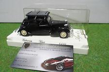 CITROËN TRACTION GAZ noir au 1/43 AGE D'OR SOLIDO FRANCE 4115 voiture miniature