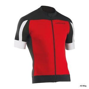 Maillot de Vélo - NORTHWAVE 89151077 Sonic Jersey - Rouge/Noir T.M/L/XL/XXL NEUF