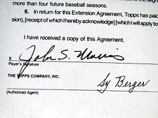 1990 JACK MORRIS Topps Autographed Baseball Card Contract Hall of Fame TIGERS
