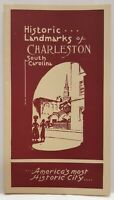 Historic Landmarks of Charleston South Carolina Brochure Pamphlet