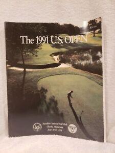 SWEET 1991 US Open Golf Tournament Program, Payne Stewart Champion, VERY NICE!!