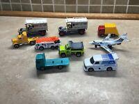 Lot of 9 Vintage Matchbox  Cars Trucks Most 80s Die Cast