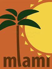 ART PRINT POSTER viaggi turismo Miami Florida Stati Uniti PALMA SUN nofl1215
