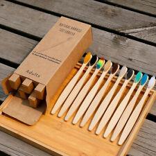 Brush Toothbrush Natural IN Bamboo And Coal, Anti Bacteria, Random - New