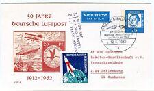 1962 50 Jahre Deutsche Luftpost Befordert DRG-Rakete Versuchsreihe Sahlenburg