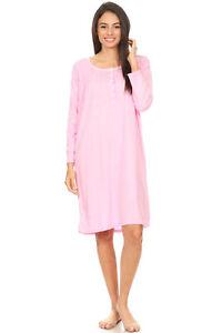 652 Women Nightgown Sleepwear Pajamas Woman Long Sleeve Sleep Dress Nightshirt