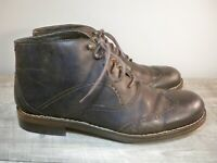 10.5 9.5 Wolverine Reese Cap Toe Lace Brown Boots Leather Sz 8.5 9