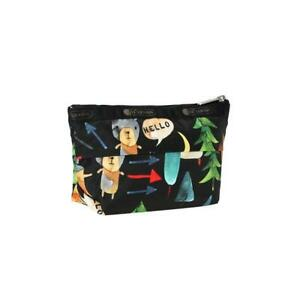 LeSportsac Classic Small Sloan Cosmetic Pouch Make Up in Hello Bears NWT