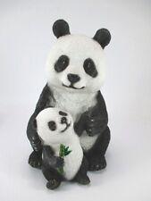 Panda Bear Bear with young 24 cm Poly Animal Animal Figure New