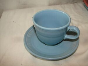FIESTA WARE CUP and SAUCER SET  PERIWINKLE BLUE  set of 8