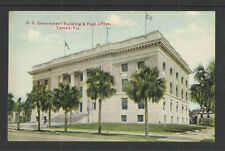 1910s Us Government Building & Post Office Tampa Fla Postcard