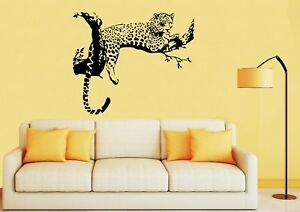 LEOPARD LYING IN A TREE Wall Art Quality Vinyl Stickers Decals - UK SELLER
