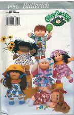"4556 UNCUT Butterick Sewing Pattern Clothes Fits 14"" Cabbage Patch Kids Doll HTF"
