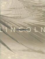 2002 Lincoln Continental Sales Literature Piece Brochure Advertisement Options