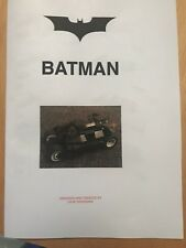 custom built lego tumbler batmobile Mk 2 INSTRUCTIONS