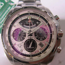 CITIZEN ECO-DRIVE MEN'S WATCH ALARM CHRONO SAPPHIRE ALL STAINLESS S AV0050-54A