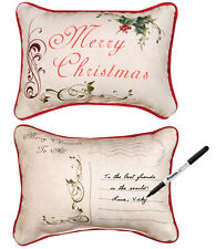 Christmas Cards ~ Merry Christmas Write On Word Pillow