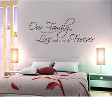 Wall Quotes decals Removable stickers decors Vinyl art-our family(small)