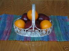 Large Silver Plated Basket  Fruit Bread or Centerpiece
