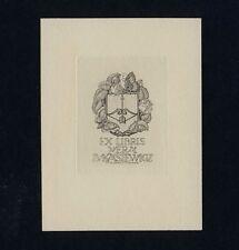 Exlibris Bookplate * H v WOYTY-WIMMER * Schmetterling Pfeil Bogen Butterfly Bow