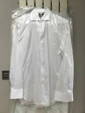 Marks And Spencer Mens Luxury Cotton Size 15 Slim Fit White Shirt New