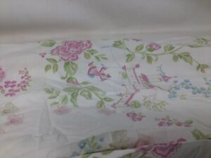 Pottery Barn Kids  White Pink Flowers Fitted Crib Sheet Asian Pagoda Floral